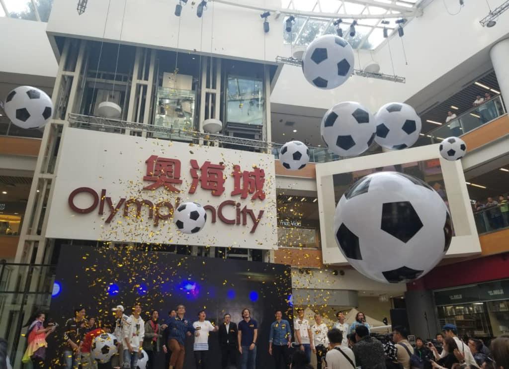 奧海城於世界盃舉行期間,特設450吋大電視直播賽事。