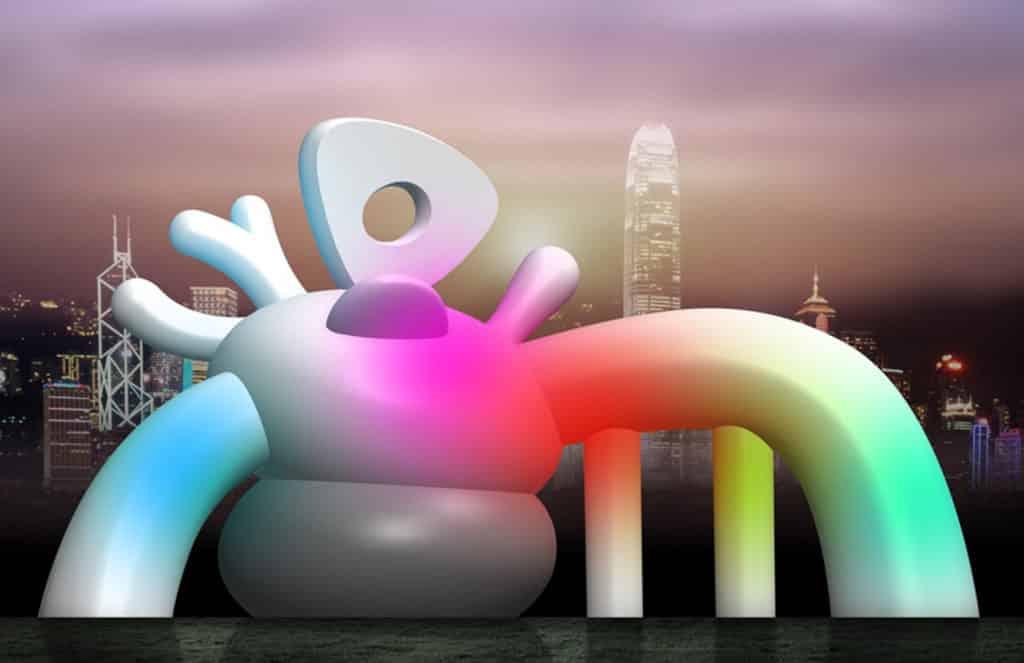 位於illuminate! 光影遊樂園藝術園區核心、高逾 4 米的作品《怪獸》。以上為構想圖。
