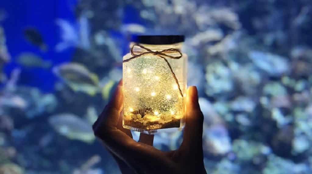 illuminate! 光影遊樂園的光影手作工作坊,會教你如何自製海洋水光燈。