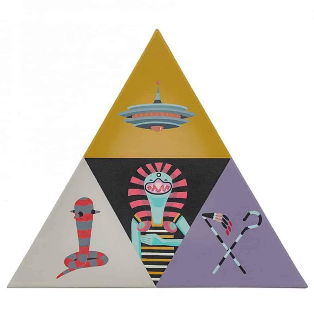 作品融合神話及外星人傳說,並加入街頭藝術元素。