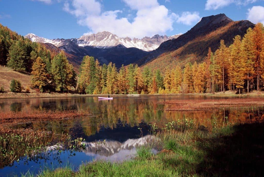 阿爾卑斯的風景如詩如畫。