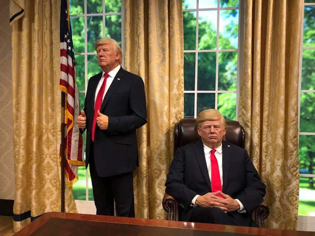 蠟像館:港人限定門票買一送一 美國總統特朗普