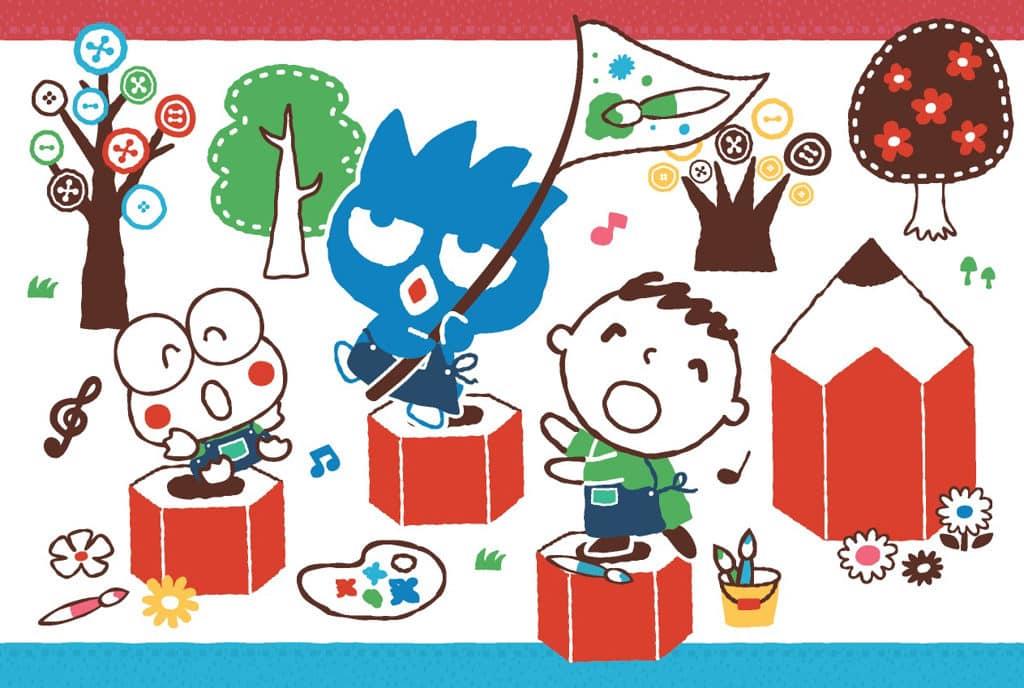 多款Sanrio characters圖案製作成的明信片,還可以到二樓Qube展覽館內的印章工作坊蓋印,再把手寫心意寄給好友。