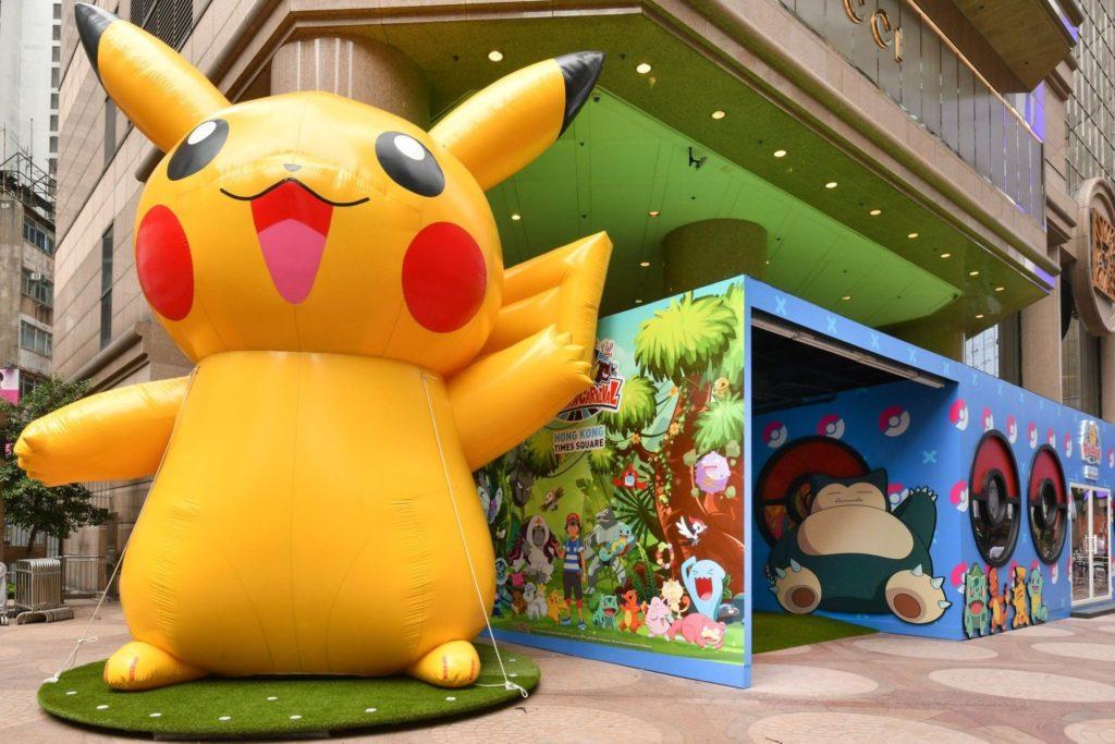 銅鑼灣時代廣場鐘樓旁,一隻 5 米高的 Pikachu 比卡超將在那裡歡迎你!
