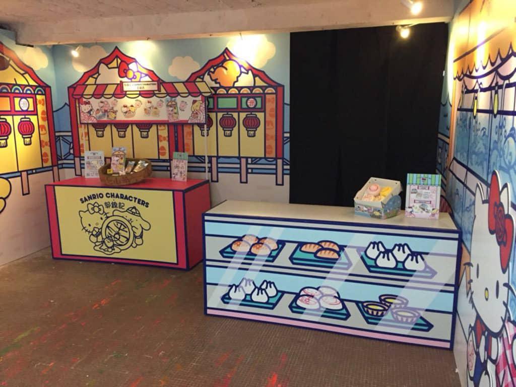 郭錦記不但有 Sanrio 平安包發售,店舖亦會以 Sanrio 作佈置主題。