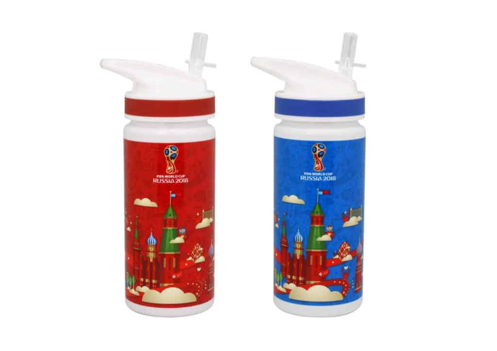 2018 FIFA 俄羅斯世界盃特許零售精品店精選貨品:印有俄羅斯特色圖案的世界盃水壺