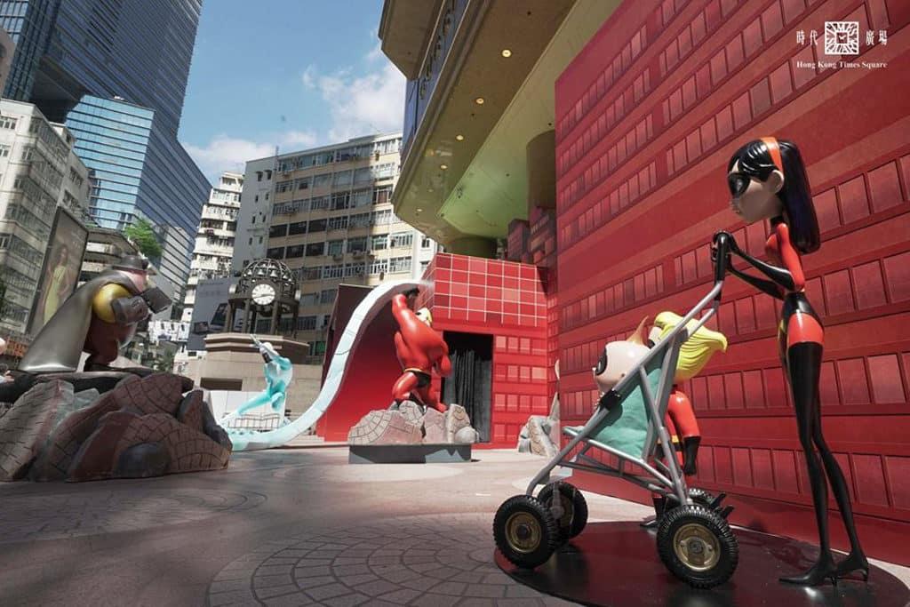 超能家族在銅鑼灣時代廣場與大家見面。(圖片來源:Hong Kong Times Square 臉書專頁)
