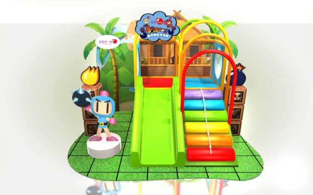 Bomberman 夏日擂台大作戰會場將設有炸彈人滑梯。