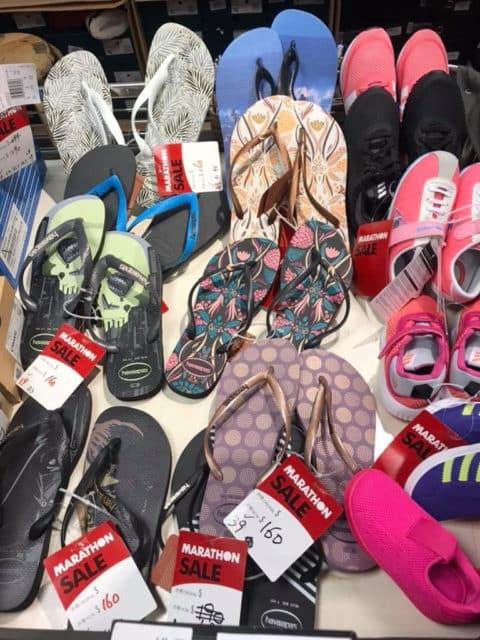 馬拉松開倉推介貨品:Havianas 拖鞋$160 港元