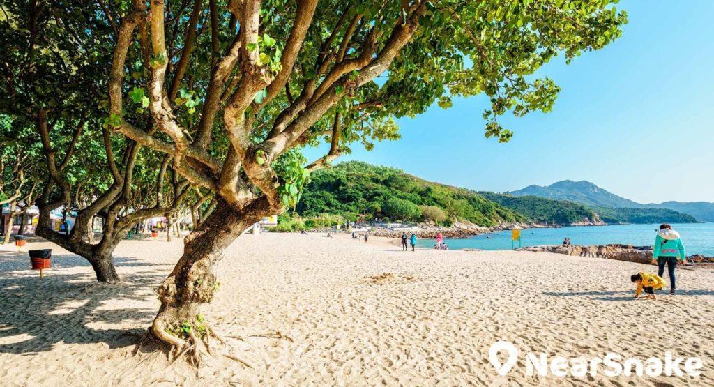 南丫島有數個泳灘,當中以洪聖爺灣最為有名