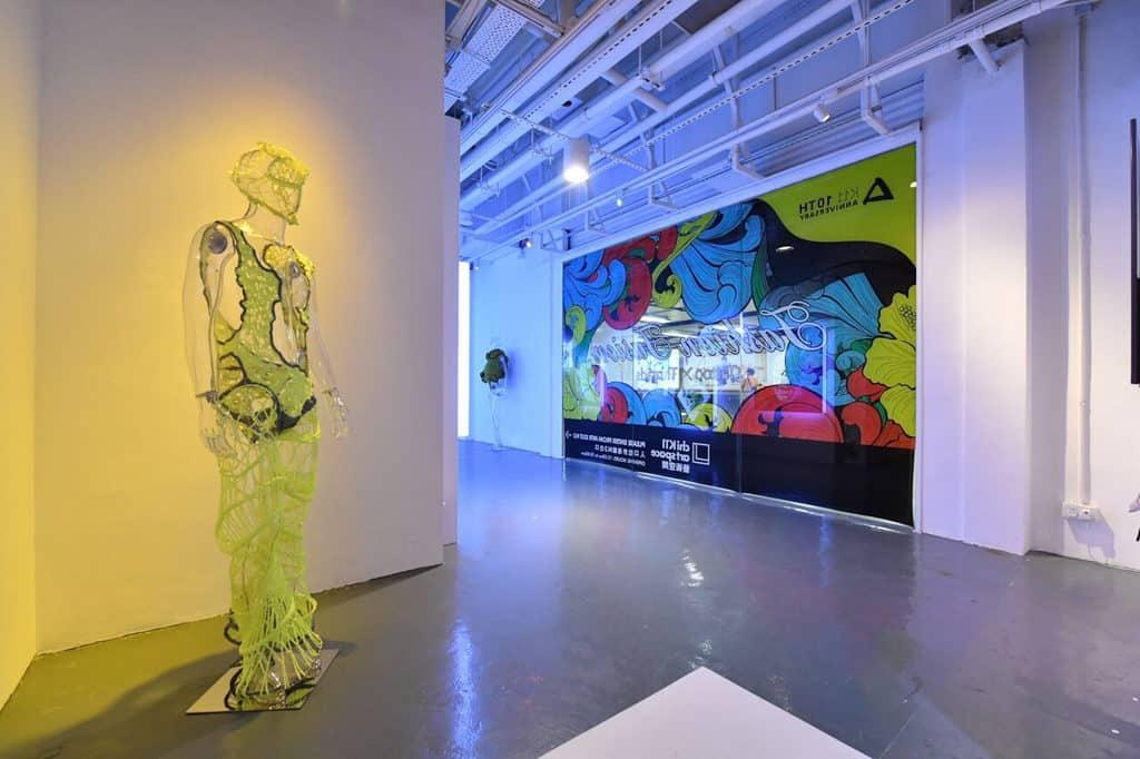 紋身大師為K11 時裝紋藝展覽設計一系列畫作亦轉化成壁畫藝術。