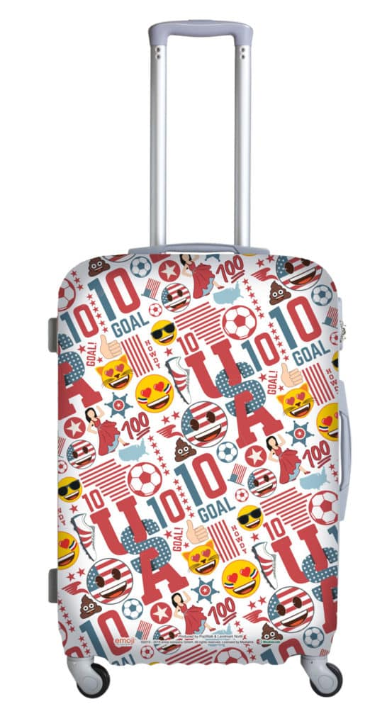 「emoji Sports Fiesta」夏日禮品換領: 美國國家隊 emoji 行李箱保護套。