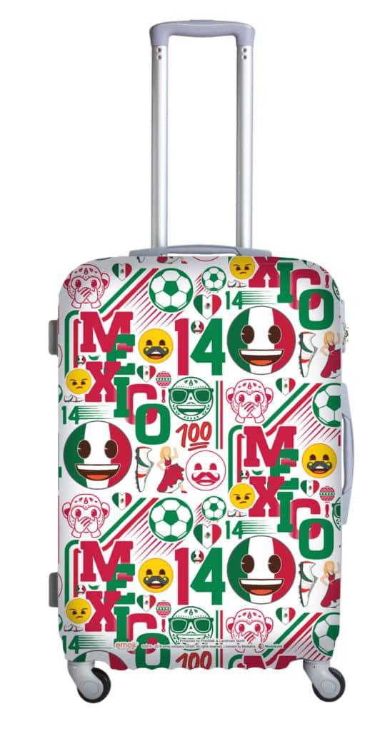 「emoji Sports Fiesta」夏日禮品換領: 墨西哥國家隊 emoji 行李箱保護套。