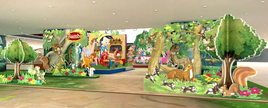 德福廣場與迪士尼合作,打造以立體書為設計概念的主題活動。