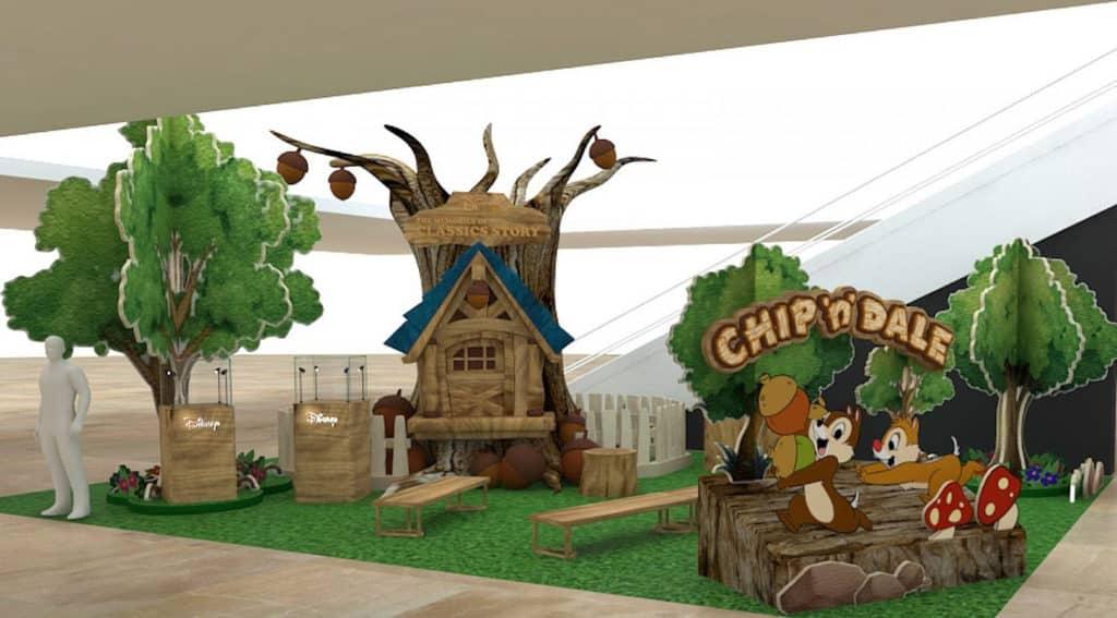 德福廣場二期打造成 Chip n Dale 主題親子閱讀坊。