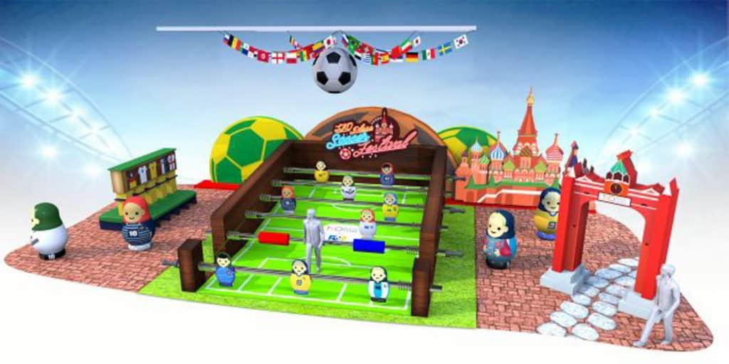 將軍澳廣場以足球機場景為主題迎接俄羅斯世界盃。