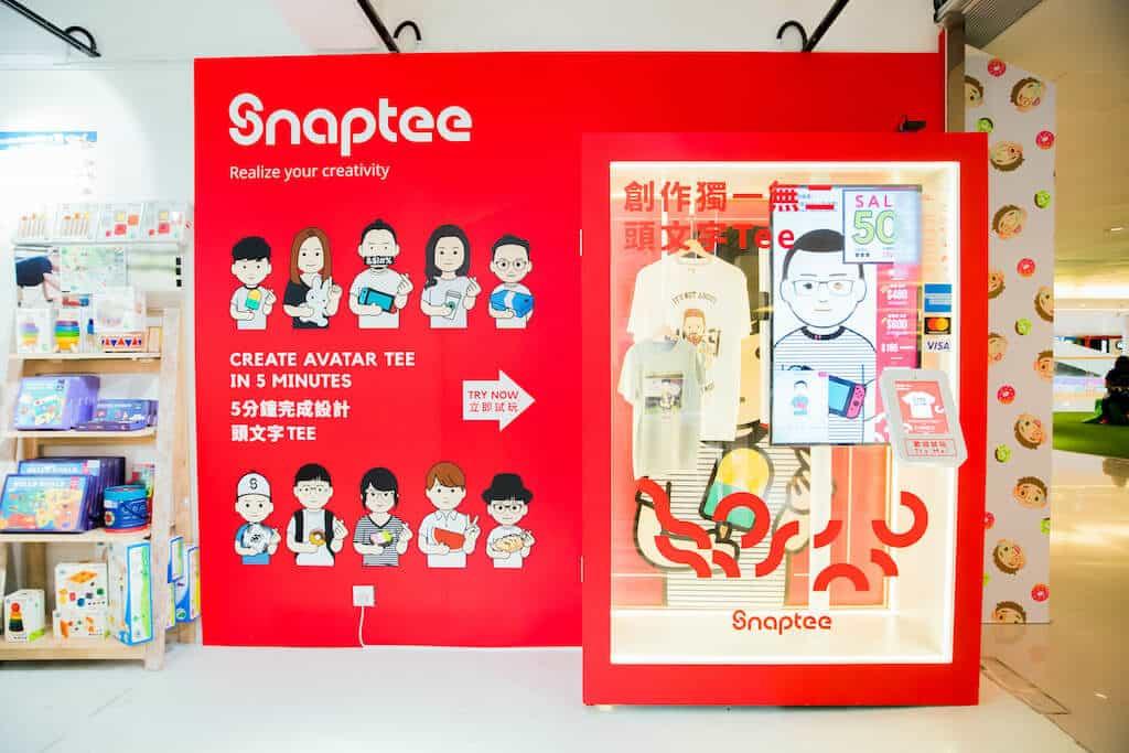 D‧PARK:生活百貨館-個性化 T-shirt 設計品牌 Snaptee 推出自助「Snaptee Kiosk」