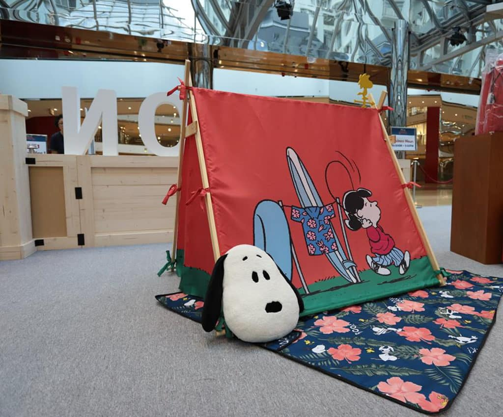 """DING DONG宅配便 ☓ LOG-ON """"Chill"""" as Snoopy 限定店: Snoopy 帳篷(HK$680/個)"""