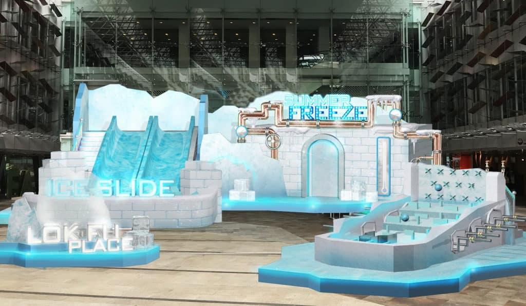 樂富廣場於 2018 年 7 月 12 日至 8 月 19 日舉辦「動感冰夏」主題裝置及遊戲。