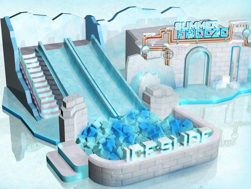 樂富廣場動感冰夏 Summer Freeze 裝置:八號風球滑梯
