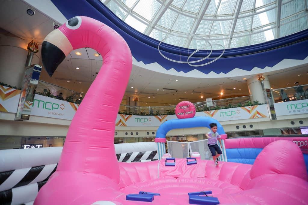6 米高紅鶴彈床樂園登陸新都城中心 MCP DISCOVERY。
