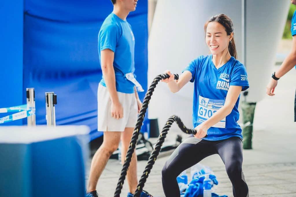 科學園:Pocari Sweat Run Carnival 2018 寶礦力水特跑步嘉年華有運動競技供試玩。