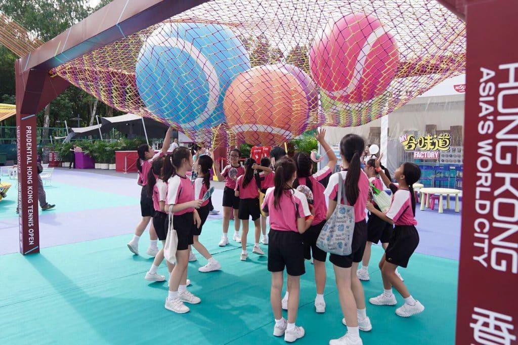 保誠香港網球公開賽 2018 網球同樂區免費開放予公眾入場玩樂。
