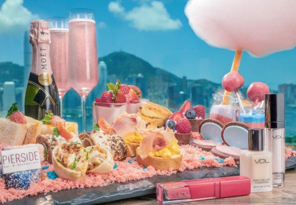 皇家太平洋酒店的堤岸酒吧及餐廳推出「Glam me Up」下午茶,以夏日閃爍「Glim and Glow」及女生最愛閃爍粉嫩色調為創作靈感,設計出專屬舌尖的夢幻美食。