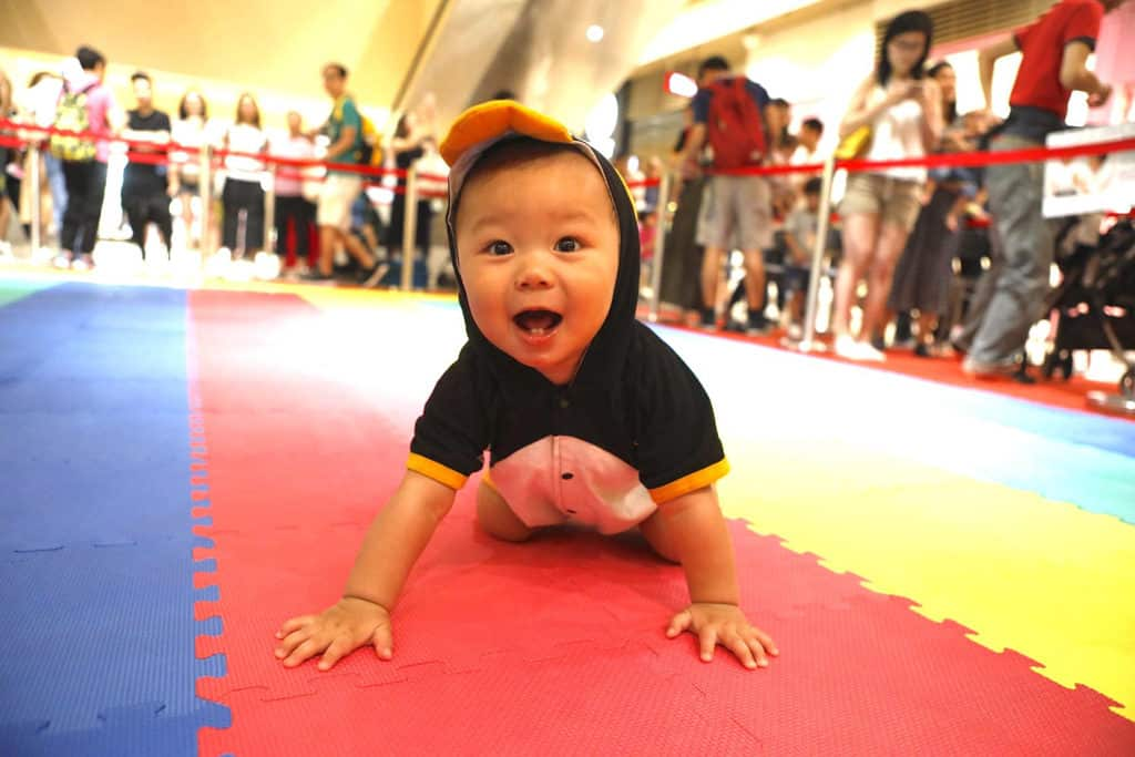 全港嬰兒慈善馬拉松爬行大賽將於荷花BB展同場舉行。