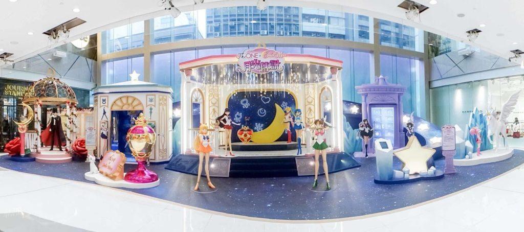 「The ONE×Sailor Moon 月光傳說」展覽上設有 7 個美少女戰士經典場面。