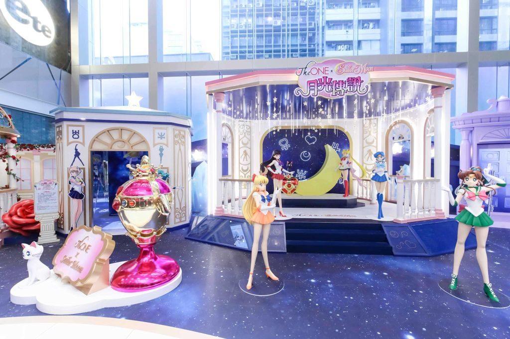 月野兔、火野麗、水野亞美等主要角色,當然要站在「The ONE × Sailor Moon 月光傳說」展覽的當眼位置。
