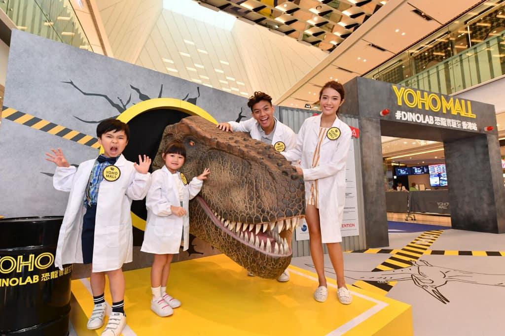 形點 #DINOLAB 恐龍實驗室上展出兩米高的暴龍頭。