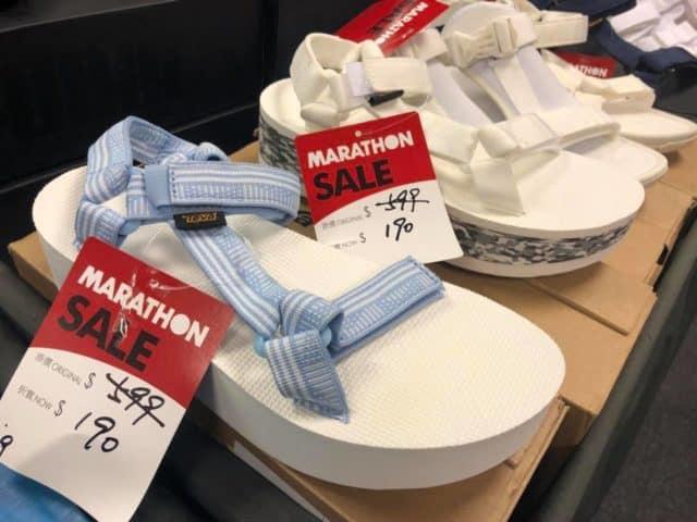 馬拉松開倉推介貨品:TEVA 涼鞋 $190 港元