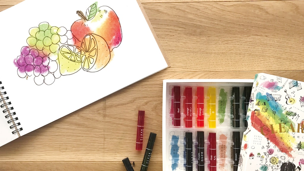 KOKUYO 透明蠟筆(10 色) 售價$100 (限量 50 盒)。