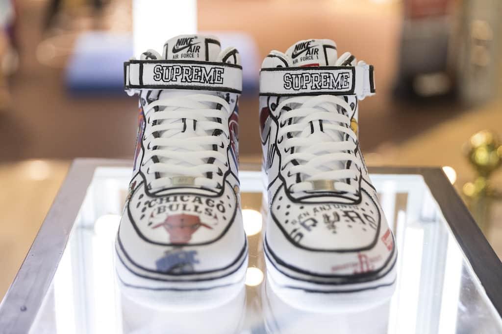 Joshua 的手繪成名作 Nike Air Jordan 將於旺角 THE FOREST 商場展出。