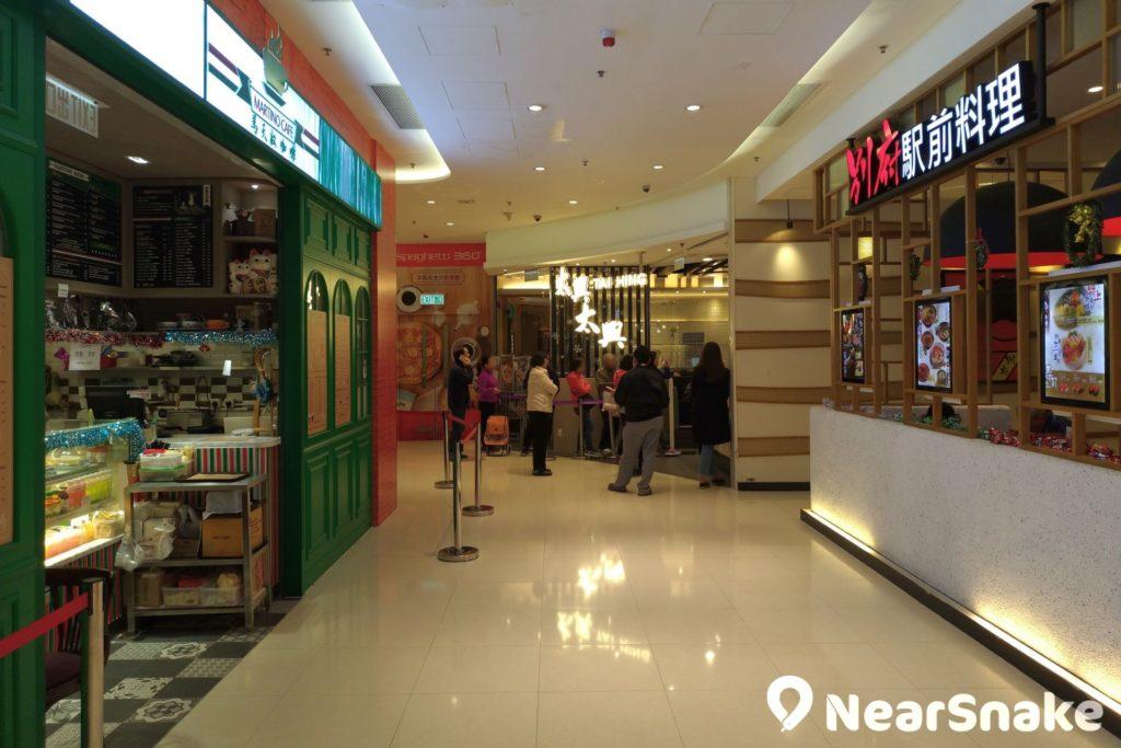 將軍澳廣場食肆大多為定位親民的餐廳,更有不少連鎖店餐廳以外的選擇。