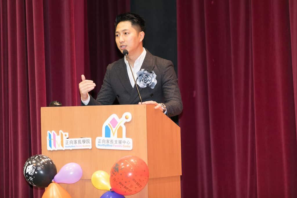 淘大「多元智能教育展」請來正向家長教育專家梁辰民提供運用心理學的知識,讓家長強化自我溝通能力。
