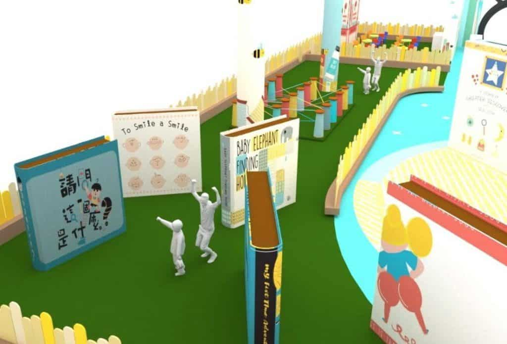 太古城中心:小書蟲·大世界-大家在「一叮訓練營」內可挑戰書蟲小迷宮、七彩繩網陣及驚險獨木橋。