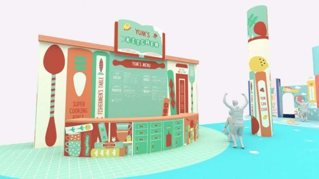 太古城中心:小書蟲·大世界-小朋友來到在「小津廚房」,可從遊戲中學習食物營養小知識。