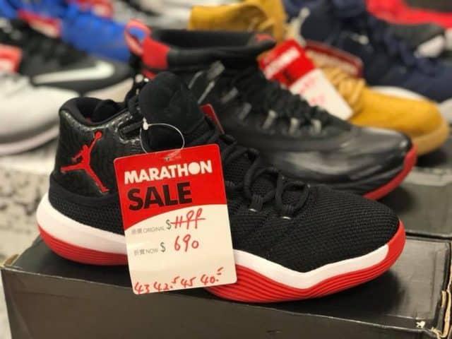 馬拉松開倉推介貨品:Nike Air Jordan 波鞋 $690 港元