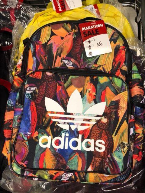 馬拉松開倉推介貨品:Adidas 背囊 $160 港元