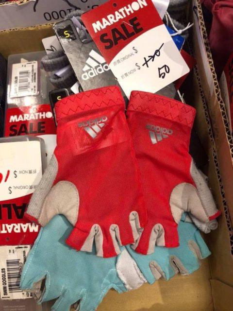 馬拉松開倉推介貨品:Adidas 運動手套 $50 港元