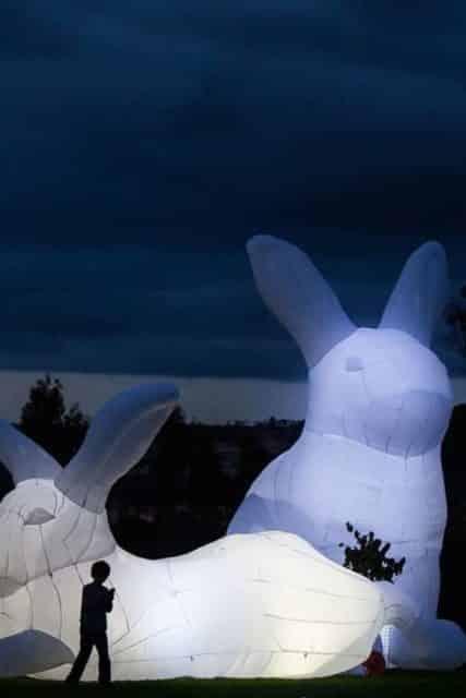 中港城·利東街:「月兔.秋燈」主題活動 巨型發光月兔曾在超過 40 個國際藝術節展出。