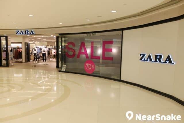 MCP Central 內的 ZARA 分店擁有圓拱形的寬廣店面,頗具氣勢。