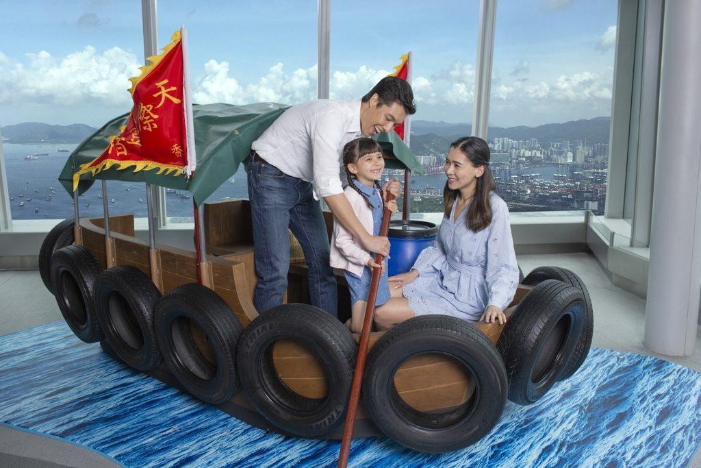 「天際 100•100% 好香港」的水上的士場景