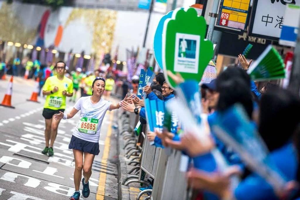 渣打香港馬拉松2019 觀眾可在比賽路線沿途為跑手打氣。