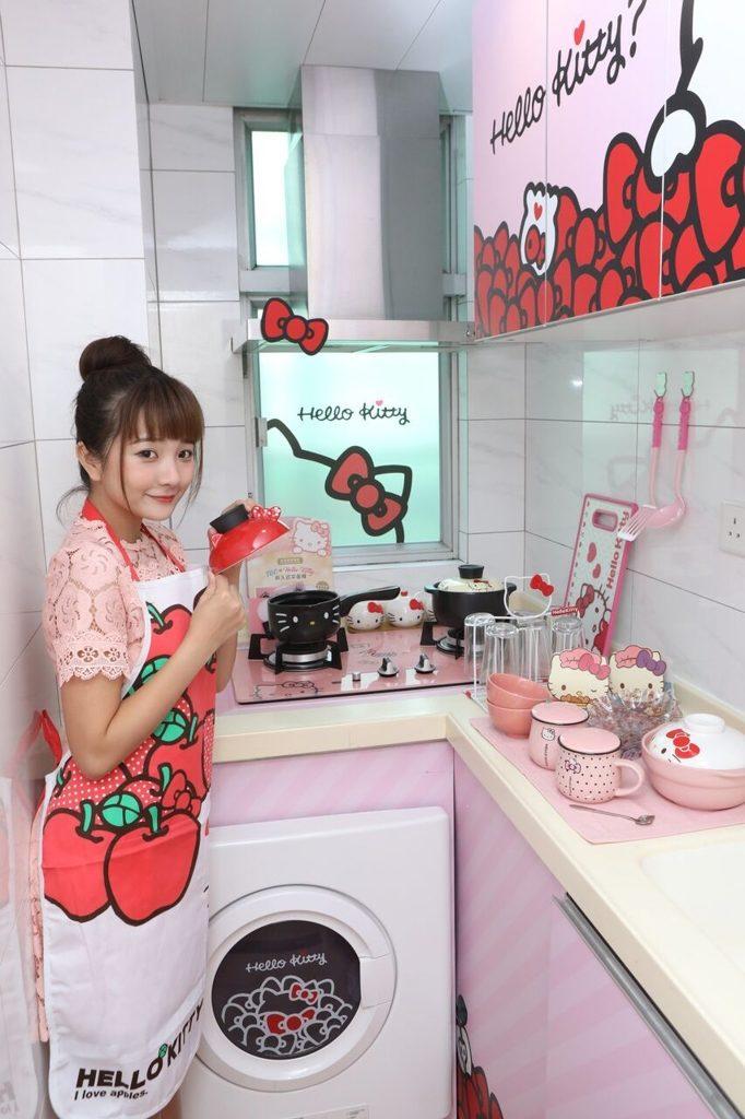 煤氣TGC「HELLO KITTY 萌の部屋」各款 KITTY 廚具用品一應俱全。
