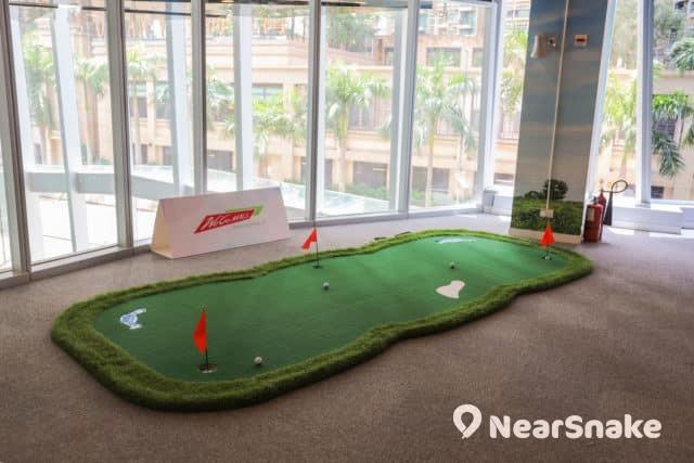馬鞍山新商場We Go Mall 動感地帶引入運動玩意,如迷你高爾夫球場。
