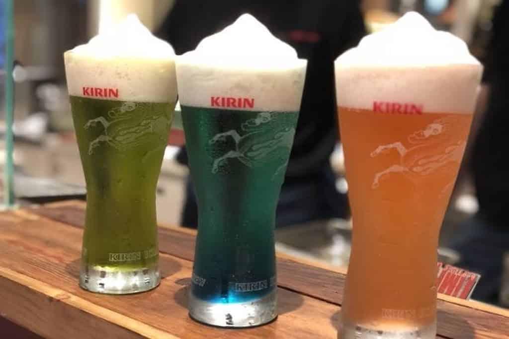 Kirin Frozen Beer。