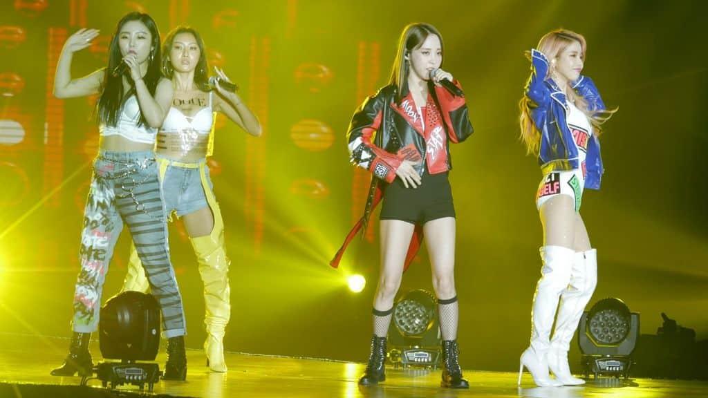 韓國最強人氣實力女團MAMAMOO擔任K-FOOD FAIR 2018表演嘉賓。·